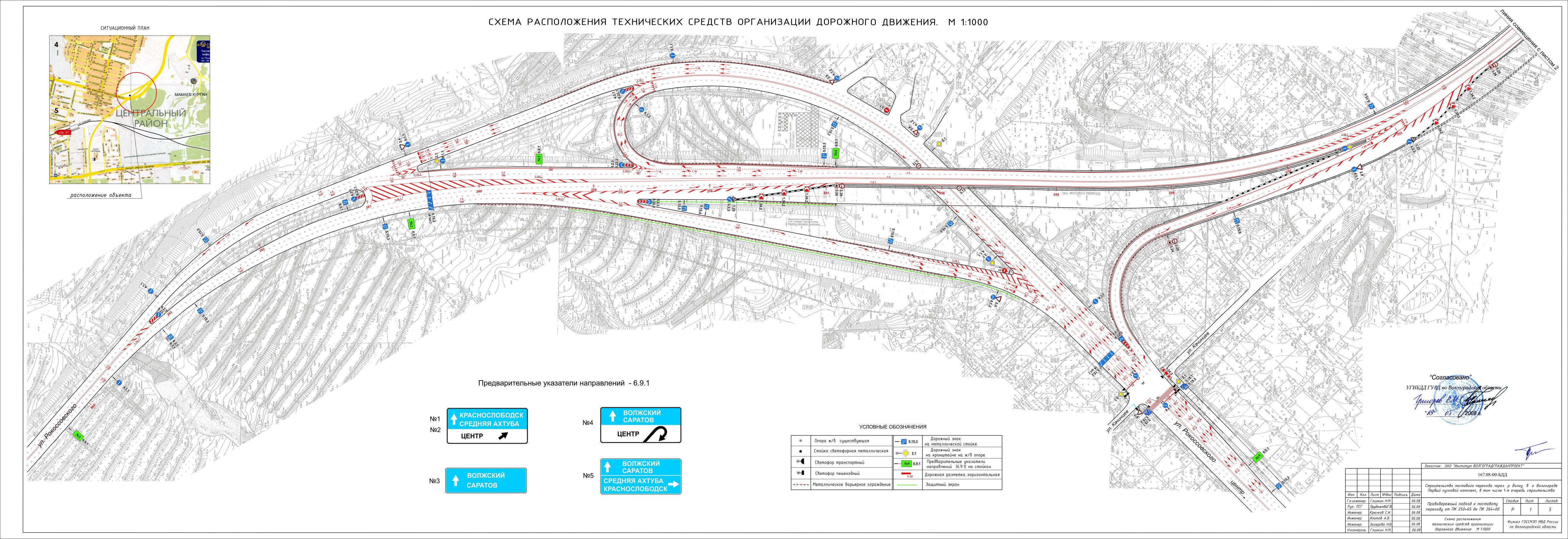 Схемы развязок нового моста через волгу